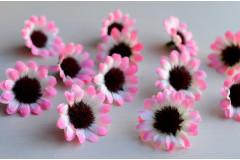 Бутон ромашки Ясная поляна бело-розовый, шт