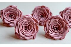 Роза из атласной ленты малая японская роза, шт.