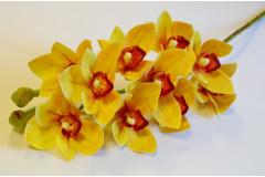 Ветка орхидеи Цимбидиум желтая, шт