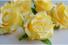 Бутон розы Мадейра светло-лимонный, шт