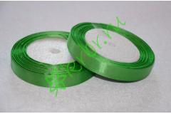 Лента атласная Зеленая (8086) 12 мм, метр