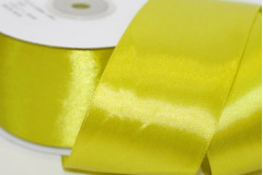Лента атласная (8070) Салатово-лимонный 50 мм, метр