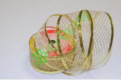 Лента-сетка армированная золото 38 мм, 1 м