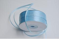 Лента атласная (8099) Голубая 3 мм, 3 м