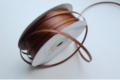 Лента атласная (8134) Шоколад 3 мм, 3 м
