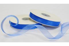 Лента органза (1038) синяя, 1 м
