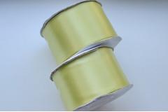 Лента атласная светло-оливковая 50 мм, метр