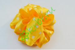Бант-шар атласный, горох желтый