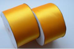 Лента атласная желтое золото 50 мм, метр