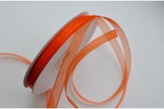 Лента органза апельсиновая 6 мм, метр
