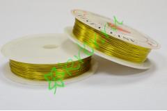 Проволока флористическая 0,4, золото