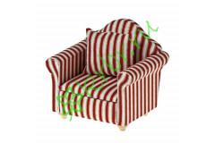 Кресло, ткань белые полосы
